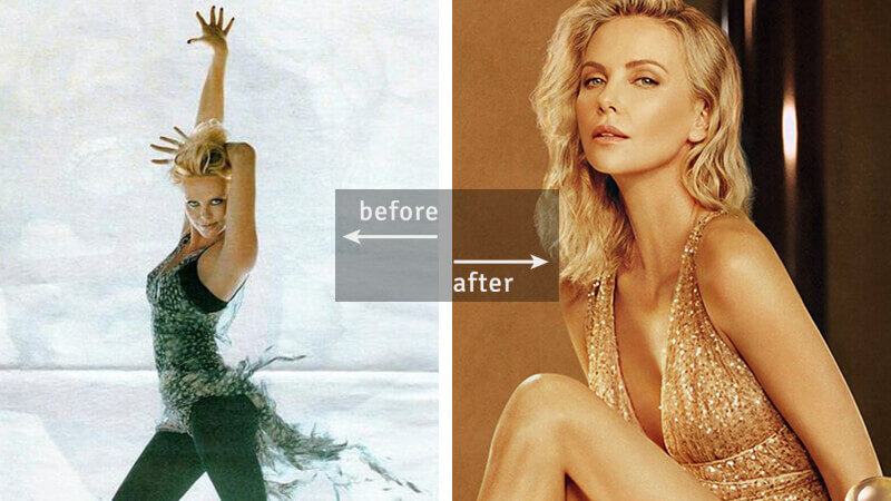 Charlize Theron was a Model and Ballet Dancer