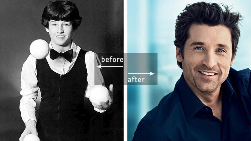 Patrick Dempsey Was Working as a Juggler