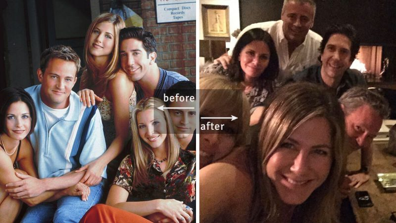 Friends Cast Then and Now