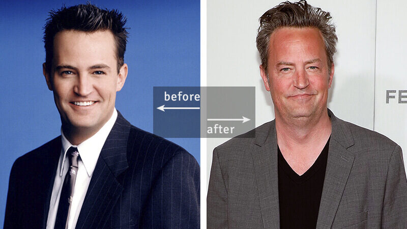 Matthew Perry Then and Now