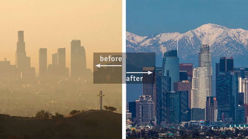 Los Angeles, USA, Air Pollution During COVID-19 Lockdown