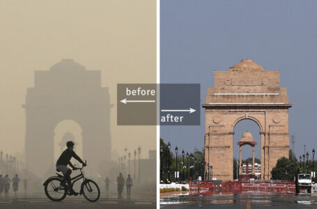 Effect of COVID-19 Lockdown on Air Pollution: Before-and-After Photos of Big Cities