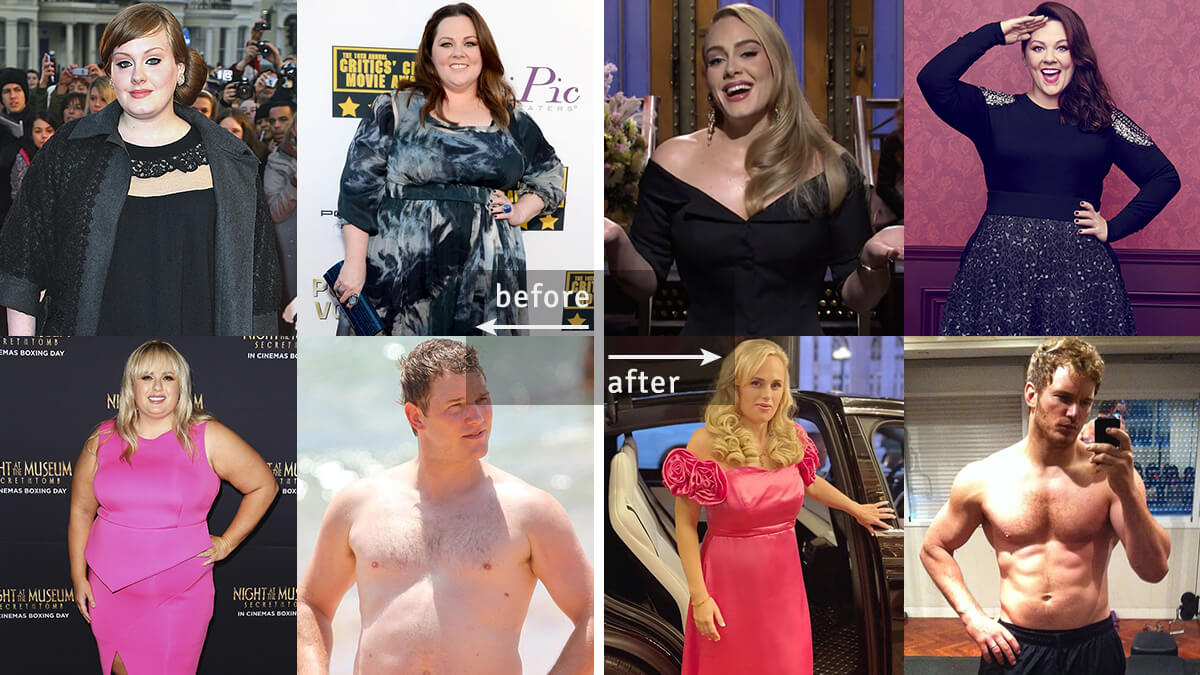 8 Celebrities' Weight Loss Transformations: Before and After