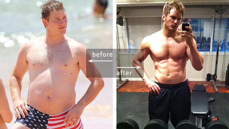 Chris Pratt Weight Loss - Before & After