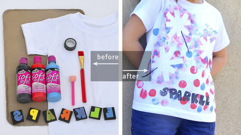 DIY sparkler tee for 4th of July